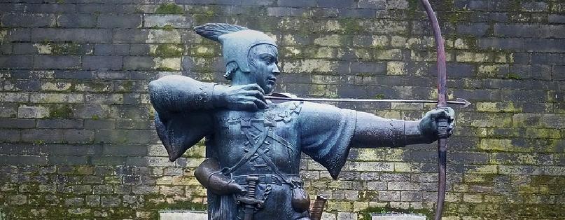 Nottingham Castle Robin Hood Bow And Arrow Statue